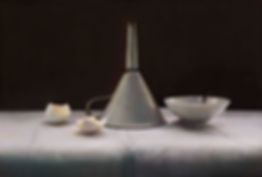 Still Life With White Funnel - Pastel on board