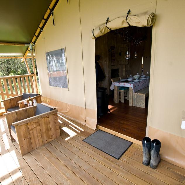 Brig y bryn verandah seats