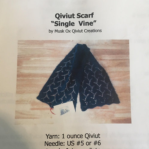 Single Vine Scarf Pattern