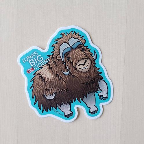 Luna's Big OXcident Sticker