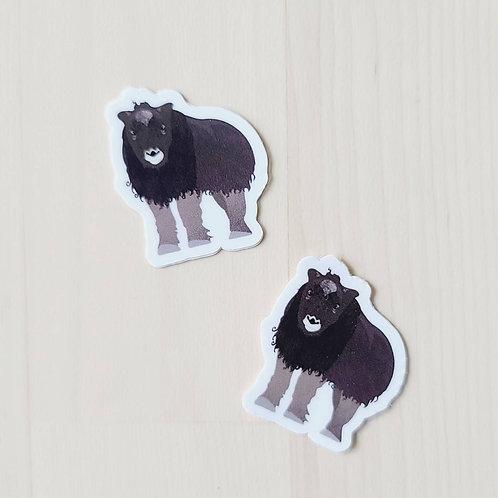 Musk Ox Calf Tiny Sticker
