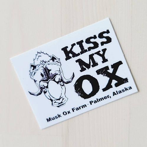 Kiss My Ox Sticker
