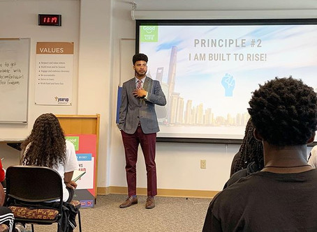 Austin Franklin, CEO & Inspirational Speaker, motivates students at Annie Ruth Foundation