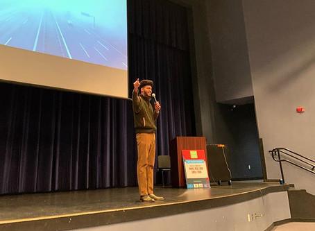 Austin Franklin, Inspirational Speaker & CEO, inspires students at Tenoroc HS in Lakeland, FL