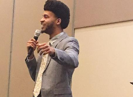 Austin Franklin, inspirational speaker, inspires students at the University of North Florida.