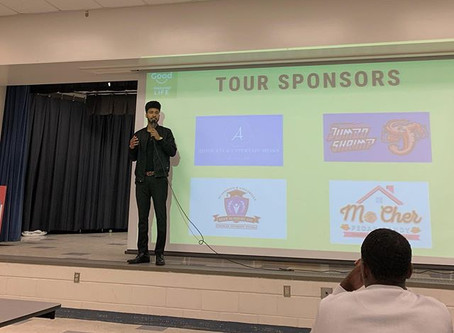 Austin Franklin, Inspirational Speaker & CEO, inspires students in Lakeland at Sleepy Hill MS.