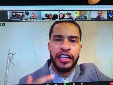 Austin Franklin delivered a powerful, virtual message to students residing in Maryland