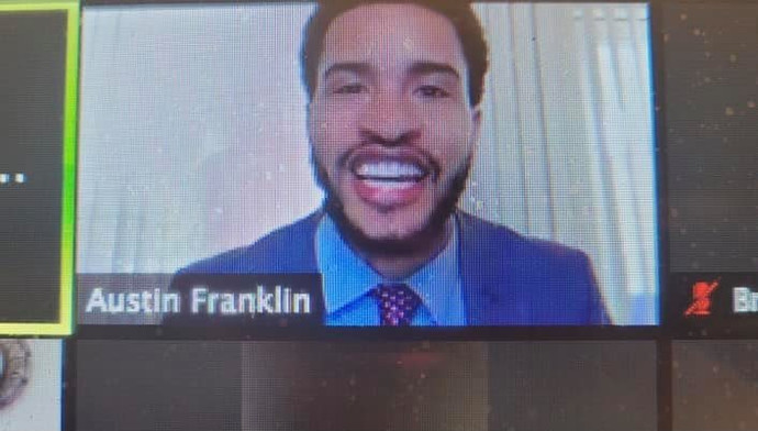 Austin J. Franklin delivers a powerful message to students in West Windsor, New Jersey.