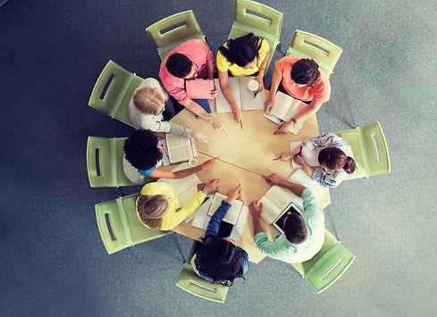 education, school, teamwork, gesture and
