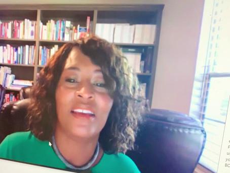 Deidra Franklin leads a powerful, rhetoric workshop for students residing in northern, FL.