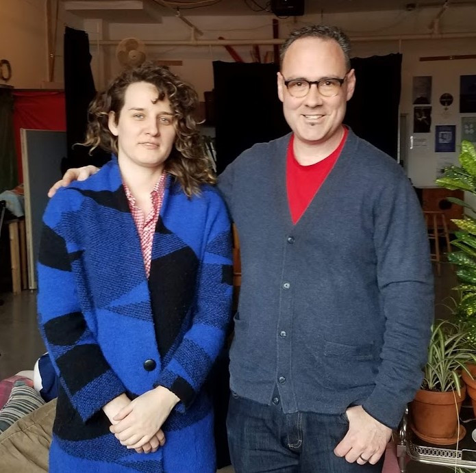 Marianna Milhorat and Rob Christopher at a lumière collective in Montreal, 3 March 2019. Photo by Jason Halprin.