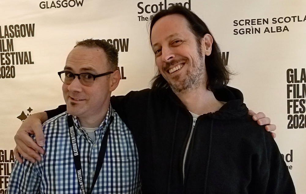 Rob Christopher and Michael Glover Smith at the 2020 Glasgow Film Festival