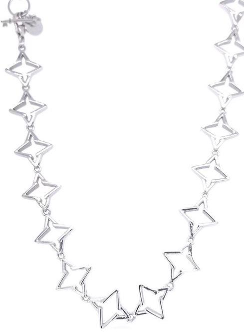 Guiding Star Necklace Silver Tone