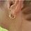 Thumbnail: Key to Light Huggie Hoop Earrings, Gold tone