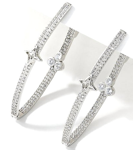Limitless Silver hoops