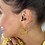 Thumbnail: LIVE SALE Sparkle Believe Small Hoop Earrings Gold Tone