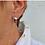 Thumbnail: Key to Light Huggie Hoop Earrings, Silver Tone