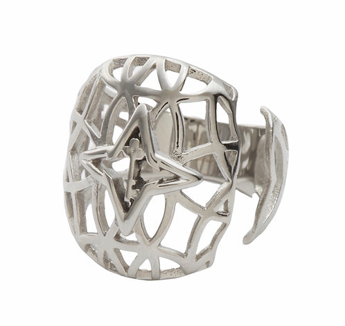 Rooted Ring Silver Tone