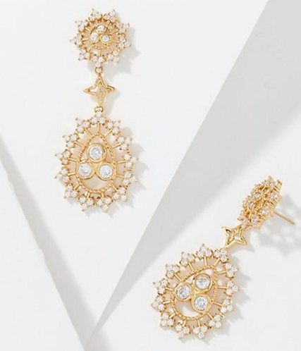 Radiate Joy Gold Drop Earrings