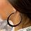 Thumbnail: LIVE SALE Sparkle Believe Large Hoop Earrings Silver Tone