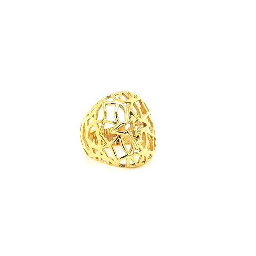 Rooted Ring Gold Tone