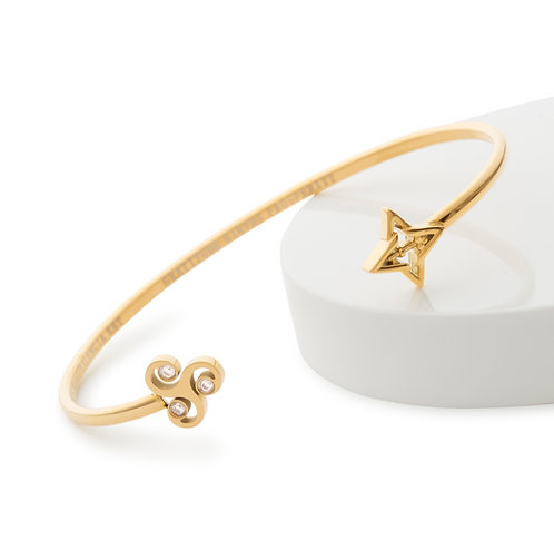 Gratitude Bracelet Gold Tone