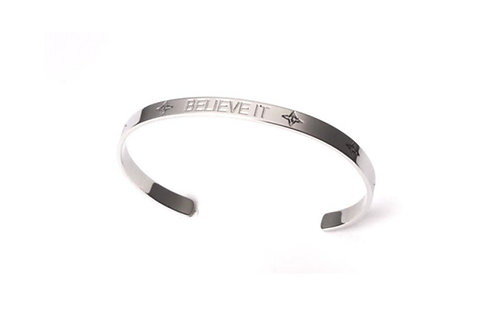 BELIEVE IT Bracelet Silver Tone