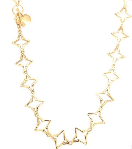 Guiding Star Necklace Gold Tone