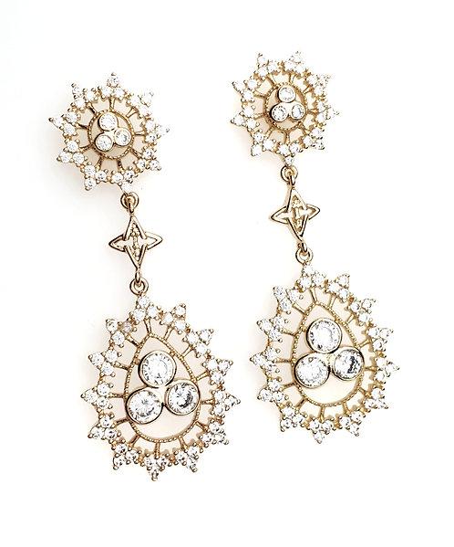 Radiate Joy Gold Drop Earrings (Brass)