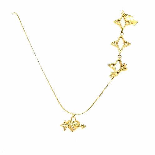 LIVE SALE Key to Light Necklace, Gold Tone