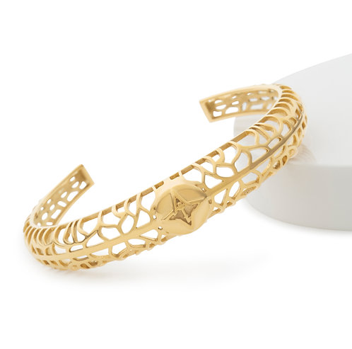Rooted Bracelet Gold Tone