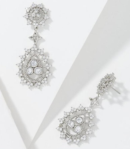 Radiate Joy Silver Drop Earrings