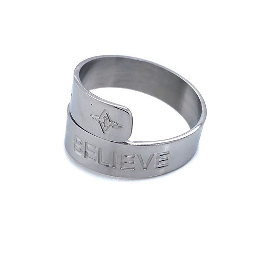 Believe Ring Silver Tone