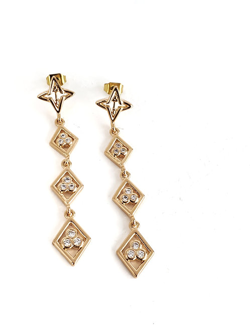 Divine Right Earrings Gold Tone