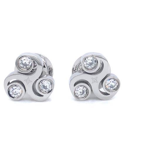 Gratitude Stud Earring: Silver
