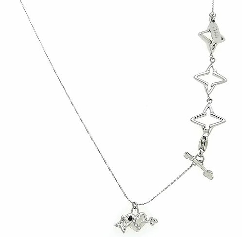 LIVE SALE Key to Light Necklace, Silver Tone