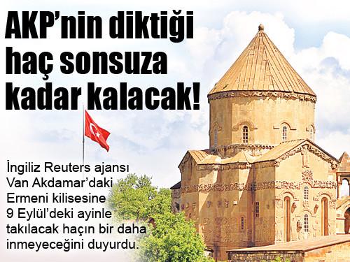 """""""AKP'NİN DİKTİĞİ HAÇ SONSUZA KADAR KALACAK """""""
