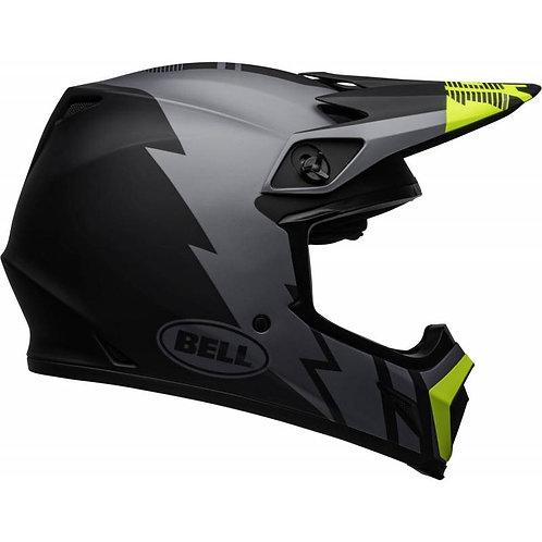 Kask Bell MX-9 MIPS STRIKE MATT Grey/Black/Hi Viz