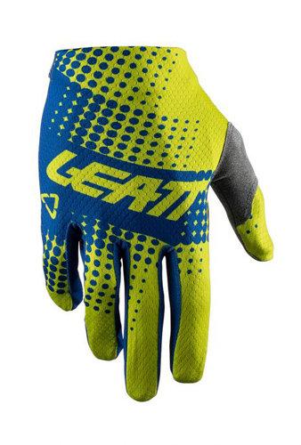 Rękawice LEATT CROSS GPX 1.5 GripR kolor żółty/niebieski