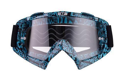 Gogle iMX Racing Mud Graphic Blue/Black z Szybą Clear (1 szyba w zestawie)