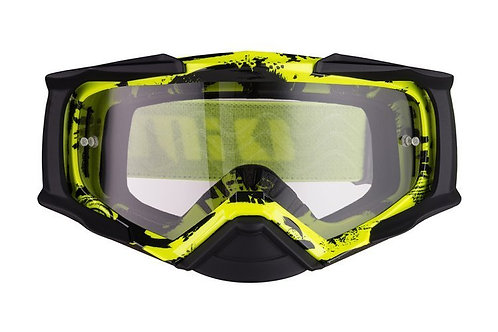 Gogle iMX Racing Dust Graphic Flo Yellow/Black Matt z Szybą Dark Smoke + Clear
