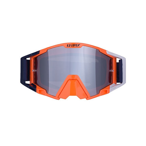 Gogle iMX Racing Sand Orange/White/Blue