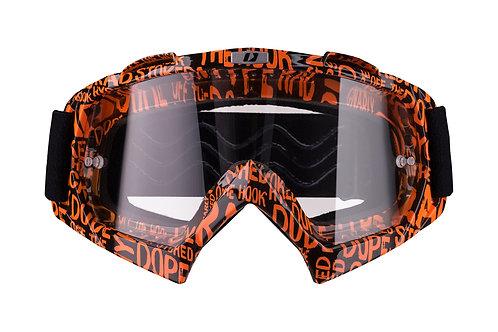 Gogle iMX Racing Mud Graphic Orange/Black z Szybą Clear (1 szyba w zestawie)