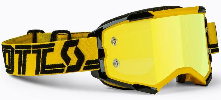 Scott Fury Chrome Gogle motocrossowe czarny-żółty