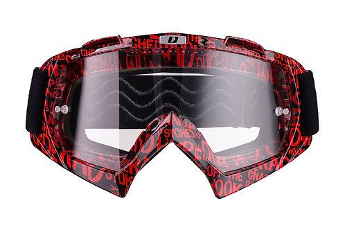 Gogle iMX Racing Mud Graphic Red/Black z Szybą Clear (1 szyba w zestawie)