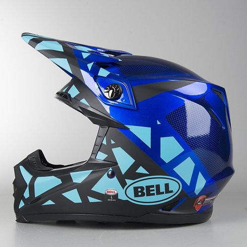 Kask MOTO-9 MIPS TREMOR MATTE/GLOSS BLUE/BLACK