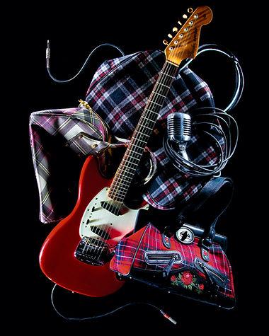 nature morte composition rock scène maroquinerie guitare