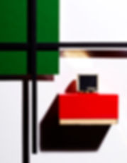 composition graphique parfum inspiration mondrian magazine OOB FENDI