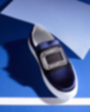 sneakers satin bleu roger vivier