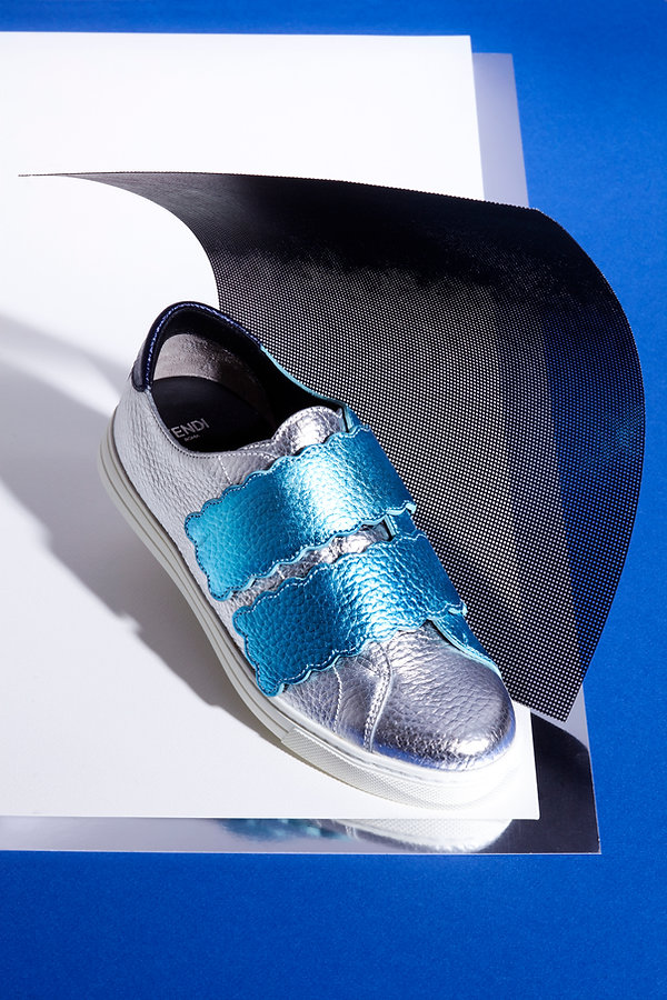 bascket sneakers argent fendi
